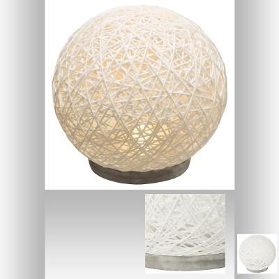 Lampe Boule Papier Et Ciment Blanc